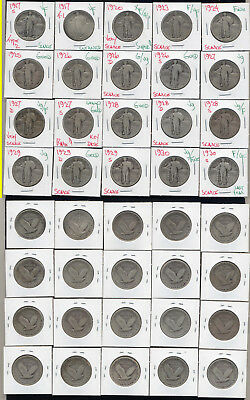 Lot Of 20 Standing Liberty Quarters- Includes 1927-S- No Reserve