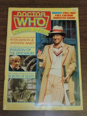 Doctor Who Summer Special 1982 British Weekly Monthly Magazine Dr Who