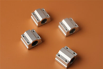 4PCS Linear Ball Bearing SCS8UU 8mm Pillow Block Linear Slides Unit for CNC CZ