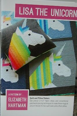 Elizabeth Hartman Pillow/Quilt Patterns Unicorn/Penguin/Flamingo/Swan and Others