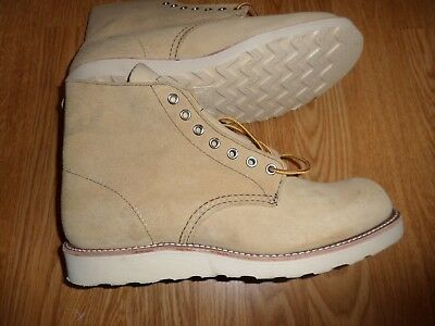 """Red Wing Heritage 8167 6"""" Classic Suede Work Boots Men's 9.5 E Rtl $270 Tan"""