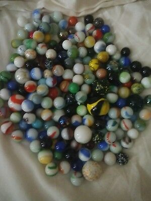 Mixed Lot 200mixed vintage & antique Marbles German Agate Swirl Shooter Clay .