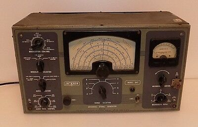 Vintage- JACKSON 641  FM-AM Universal FREQUENCY Signal Generator