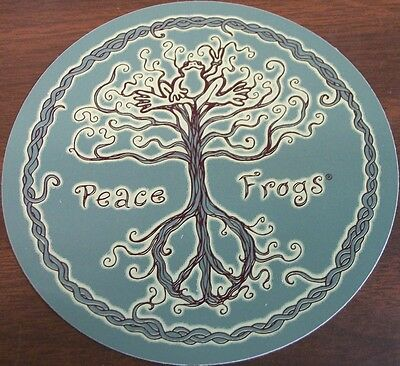 "Peace Frogs Wild Tree Sticker ~ 5"" Dia ~ High Quality Vinyl ~ Ships Free!!!"