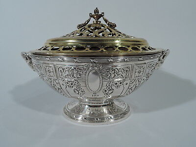Galt Vase - B125 - Antique Flower Bowl Tureen - American Sterling Silver