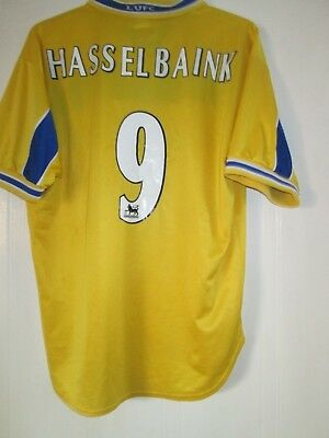 Leeds United 1998-1999 Hasselbaink 9 Away Football Shirt Size Large /43592