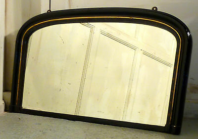 Victorian Gold and Black Over Mantle Mirror