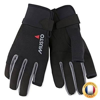 Musto Essential Long Finger Sailing Gloves - 2018 -(S Noir)