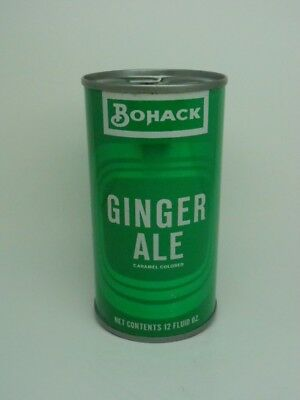 TOUGH-Bohack Ginger Ale Flat Top Soda Can-Paterson NEW JERSEY