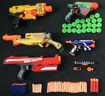 Nerf Gun Bundle Barrel Break Mega Magnus Barricade Vortex Proton Firestrike