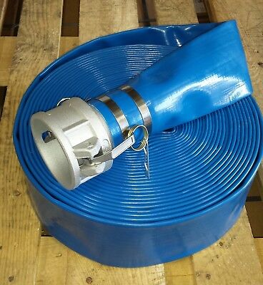 "2"" x 65ft Blue Water Discharge Hose with Camlock"