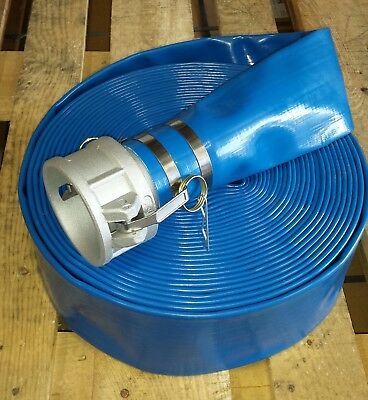 """2-1/2"""" x 65ft Blue Water Discharge Hose with Camlock"""