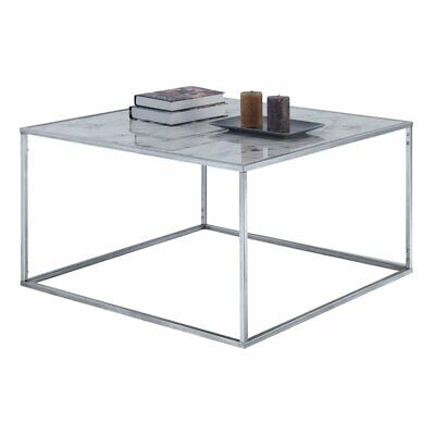 Marble And Silver Coffee Table.Convenience Concepts Gold Coast Faux Marble Coffee Table In Silver