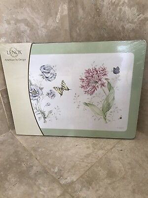 lenox butterfly meadow placemats Cork board Set Rare NWT sealed kitchen bath