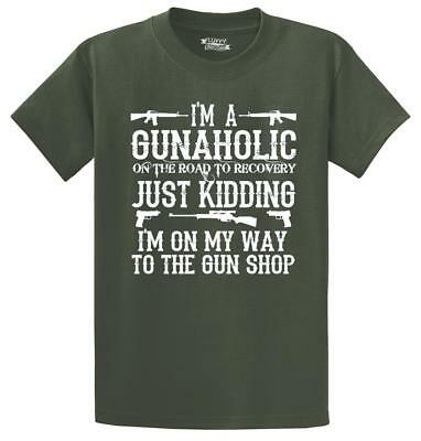 Mens I'm A Gunaholic T-Shirt Gun Rights Guns Second Amendment Political Shirt