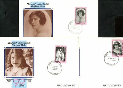 Lesotho 1990 Queen Mother's 90th Birthday FDC Set #C45126