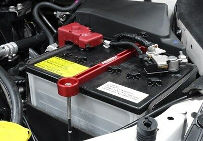 Red Perrin Battery Tie Down For WRX STi BRZ FR-S & More