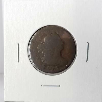 1807 Draped Bust Half Cent - About Good - Very Nice Coin -