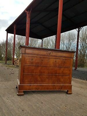 stunning large burr walnut french marble chest of drawers