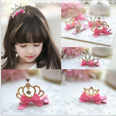 Hairpin Baby Girl Hair Clip Bow Crown Flower Mini Barrettes Star Kids Infant HOT