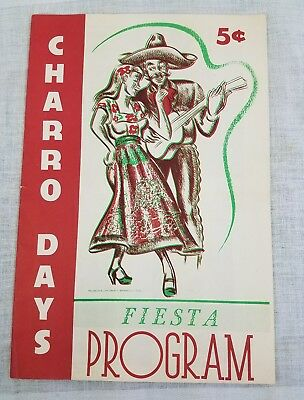 Vtg Brownsville Texas Charro Days Fiesta Program Loaded With Local Advertising