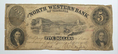 1857 North Western Bank of VA at Wheeling, Payable at Jefferson