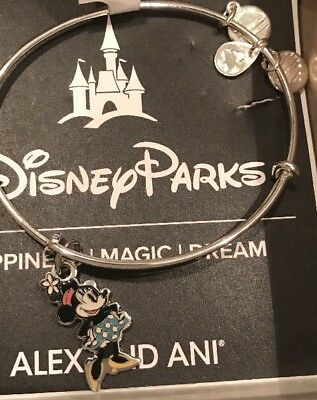 Disney ALEX AND ANI Minnie Silhouette Silver Bracelet NEW In Hand