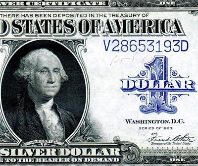 HGR FRIDAY 1923 $1 Silver Certificate ((STUNNING)) Appears CH - GEM UNCIRCULATED