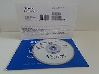 MS Microsoft Windows 7 Home Premium,32 Bit,Deutsche (OVP) OEM Aufkleber