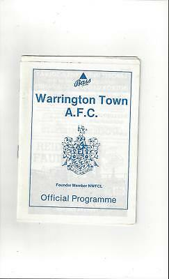 Warrington Town v Leek Town FA Cup Football Programme 1988/89
