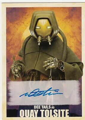 2018 Topps Star Wars Solo Auto Dee Tails as Quay Tolsite