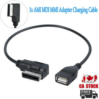 For AUDI VW Music Interface MDI MMI AMI USB Cable Data Sync Charging Adapter CA