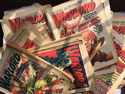 82 X Warlord Comics - Massive - Job Lot Bundle Some Early Issues Good+ Condition
