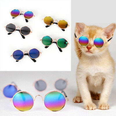 Funny Small Pet Cat Dog Sunglasses Glasses Costume Toy Kitten Outfit Dress 1PC