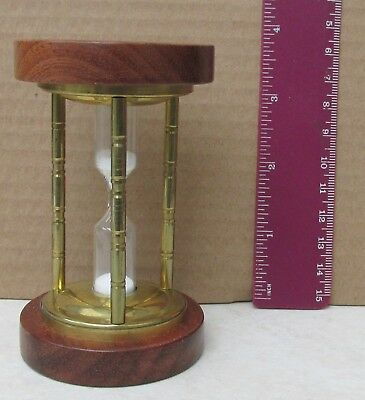 Wood & Brass Egg Timer