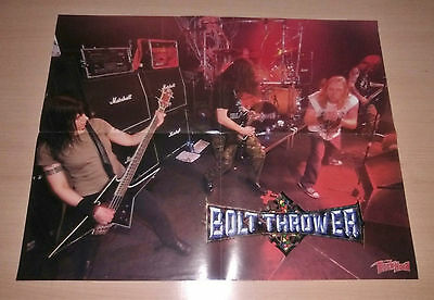 BOLT THROWER , Folded Poster , Rock Hard Magazine , EX Condition , Death Metal