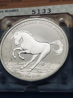 1oz Silver B.U 2017 Australian Stock Horse With C.O.A