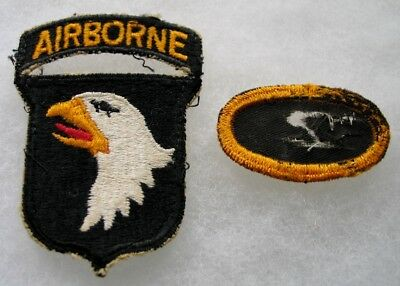 US WWII World War 2 101st Airborne Shoulder Patch and Jump Wing Oval 515th PIR
