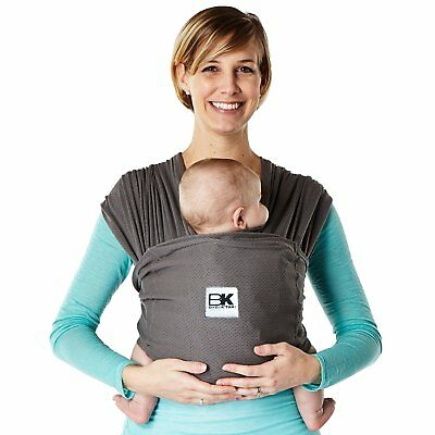 Baby K'tan Breeze Baby Carrier, Charcoal, Large Wrap Fabric