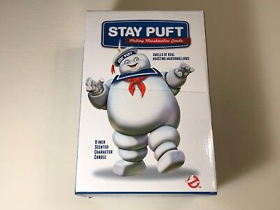 """Ghostbusters Stay Puft Melting Marshmallow Candle (9"""" Candle) New in Box"""