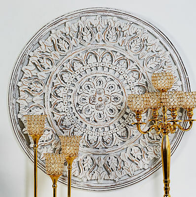 BUNGALOW ROSE RUSTIC Carved Mandala Round Wall Décor - $122.99 ...