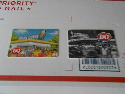 Dairy Queen Gift Cards !!!! No Cash Value!!!!! Lot Of 2