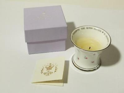 Centenary Year Queen Mother Royal Collection Bone China Candle USED Boxed #B34