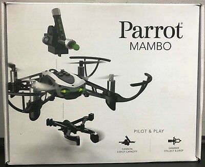 Parrot Mambo Mini Drone RC Drone RC Quadcopter with Cannon and Grabber NEW