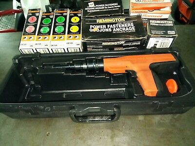 Remington 496 Powder Actuated Ramset Tool with Fasteners and Power Loads