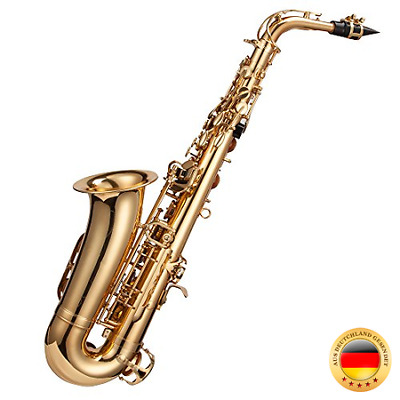 Windsor Altsaxophon komplett mit Koffer, Goldlackiert [UK import]