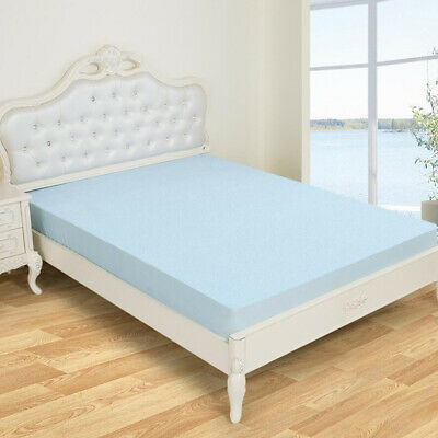 Elastic Waterproof Mattress Topper Cover Bedding Quilted Fitted 12 Inch Deep