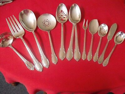 (12) 1847 Rogers Silverplate Serving Pieces, 1948 Remembrance  #G