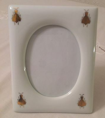 LIMOGES VINTAGE HAND PAINTED NAPOLEON GOLD BEE Rectangle Pic Frame 79% REDUCTION
