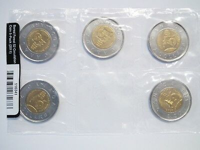 2011 Canada Boreal Forest Two Dollar $2 - 5 Pack - $10 Face Value of Toonies